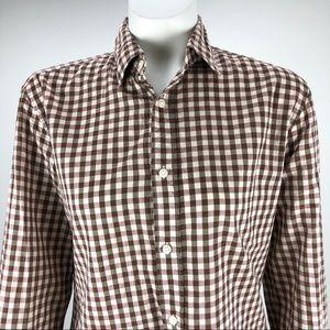 Vince Cotton Button Shirt Blouse Top Beige - Small